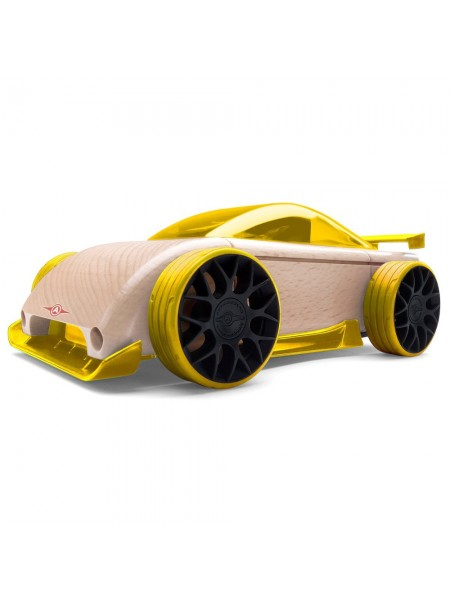 Автомобиль-конструктор Automoblox Mini C9R Yellow Спорткар